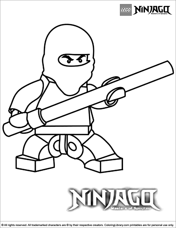 Ninjago colouring page