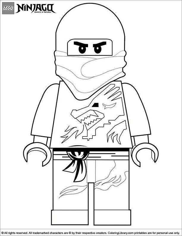 Ninjago coloring page to print
