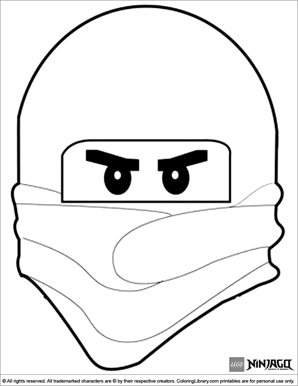 Ninjago free coloring sheet