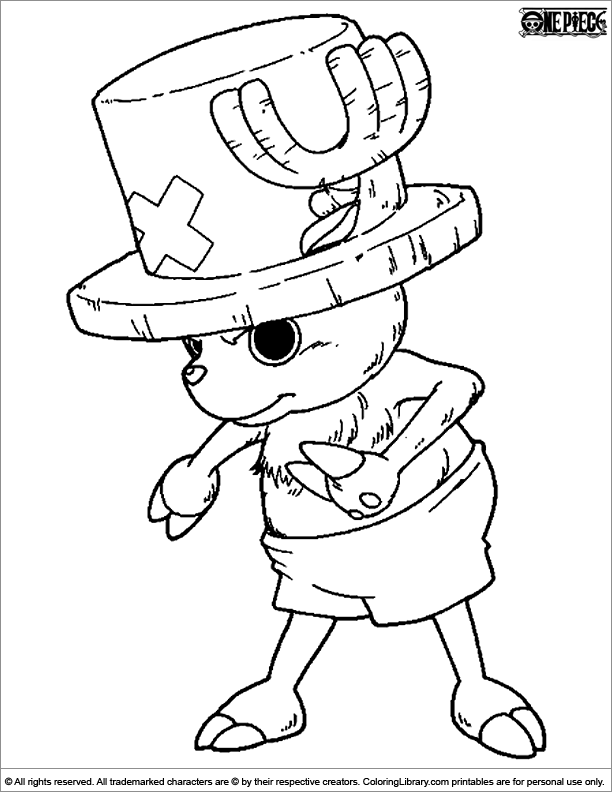 Once Piece coloring page online