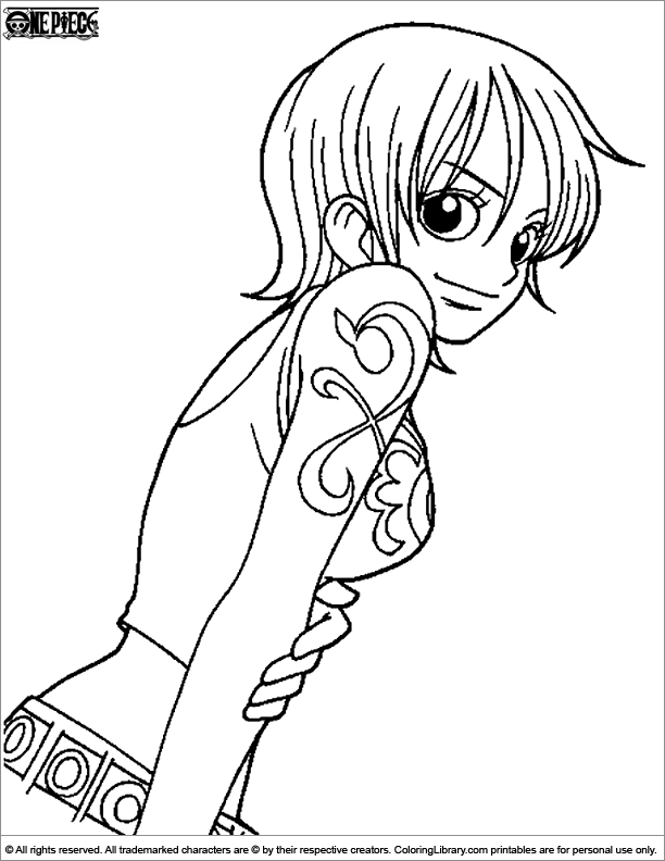 Once Piece Coloring Picture