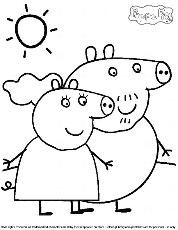 daddy pig images coloring pages - photo#10