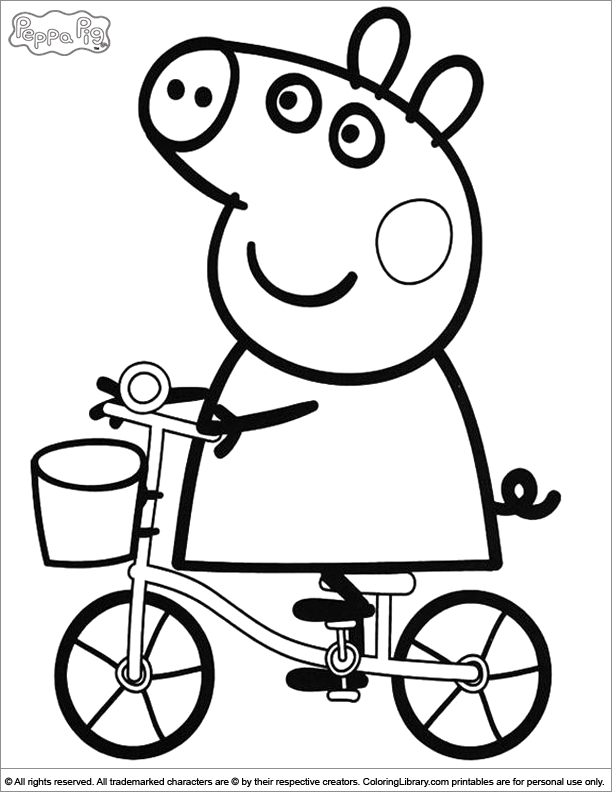 peppa pig coloring picture - Peppa Pig Coloring Pages