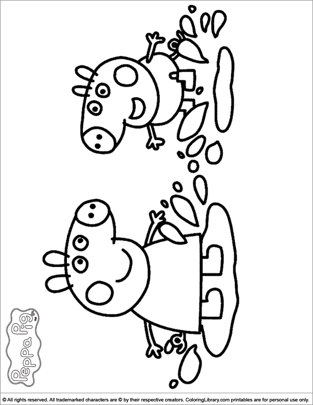 peppa pig coloring picture - Peppa Pig Coloring Pages Kids