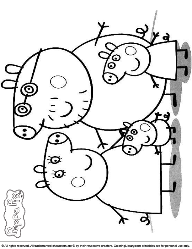 Peppa pig colouring cake ideas and designs for Coloring pages peppa pig