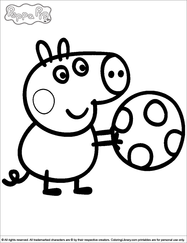 Peppa pig coloring picture for Coloring pages peppa pig