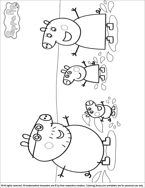Peppa Pig Coloring Pages Games Coloring Pages