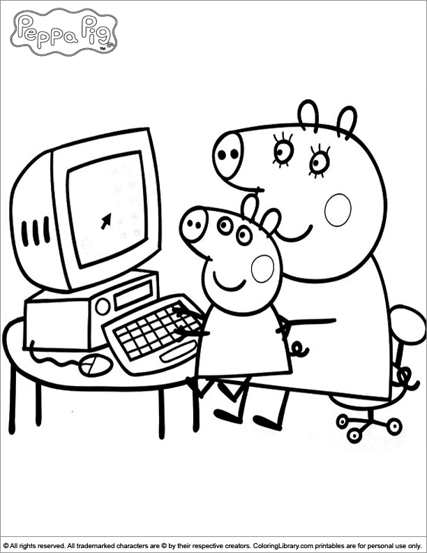 peppa pig house coloring pages - peppa pig house coloring pages