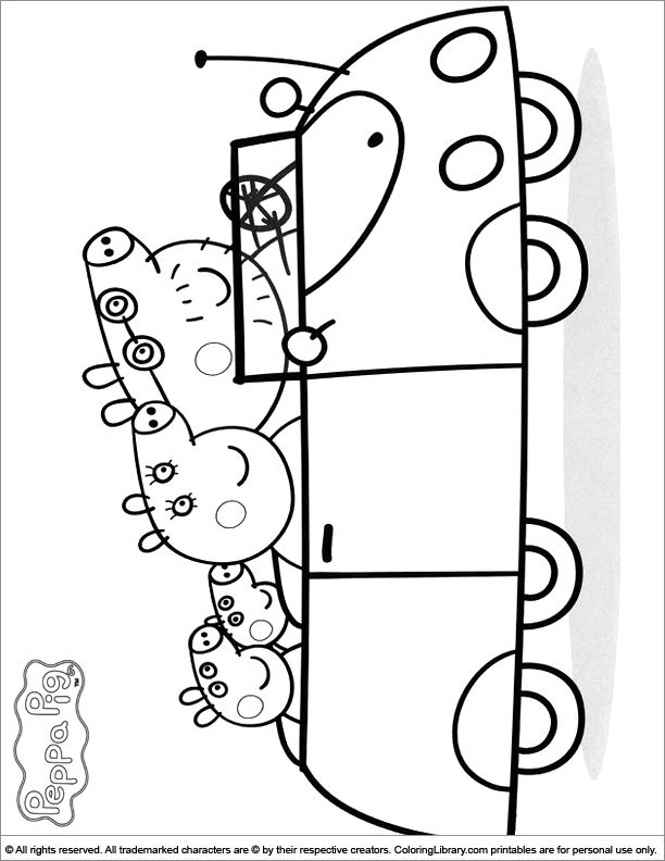 Peppa mint shoppies coloring pages coloring pages for Peppa pig printable coloring pages