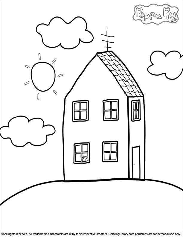 Peppa Pig coloring book sheet