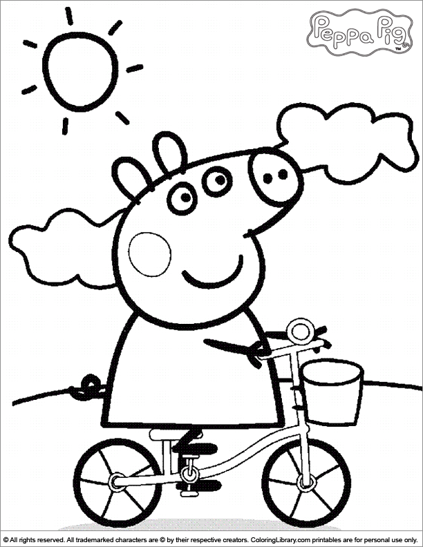 Peppa Pig Colouring Pages : Peppa pig coloring picture