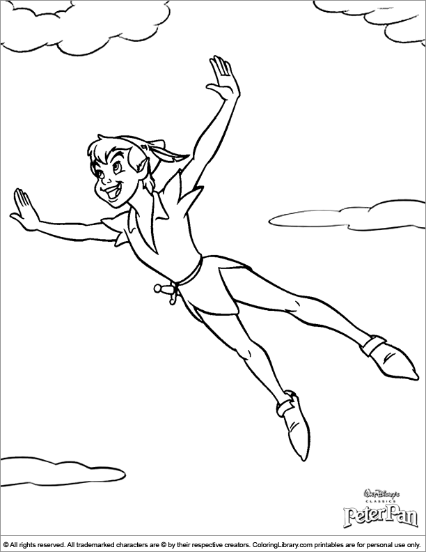 peter pan free coloring pages - photo#22