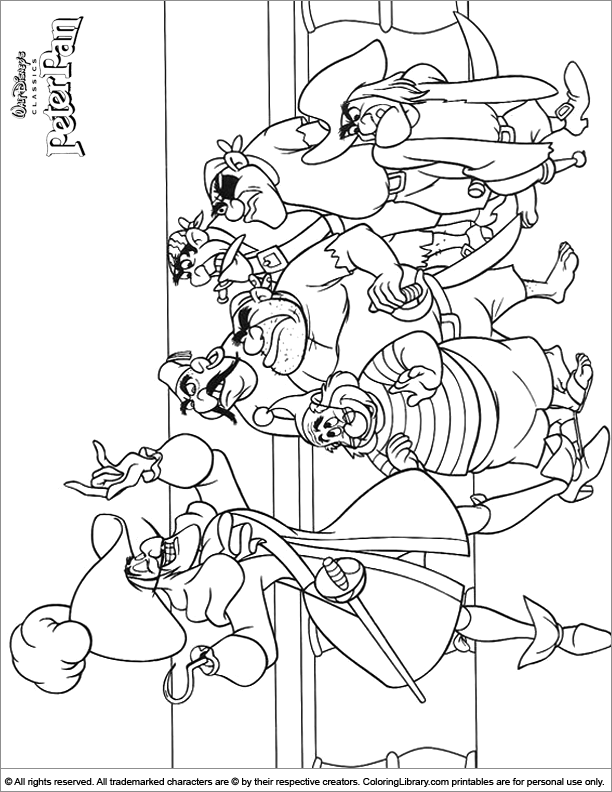 Fun Peter Pan coloring page