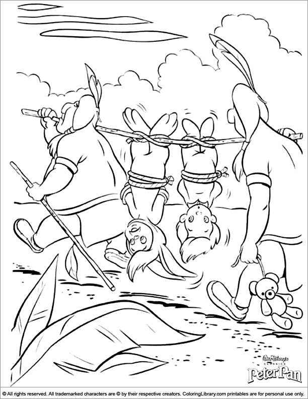 Peter Pan printable coloring page for kids