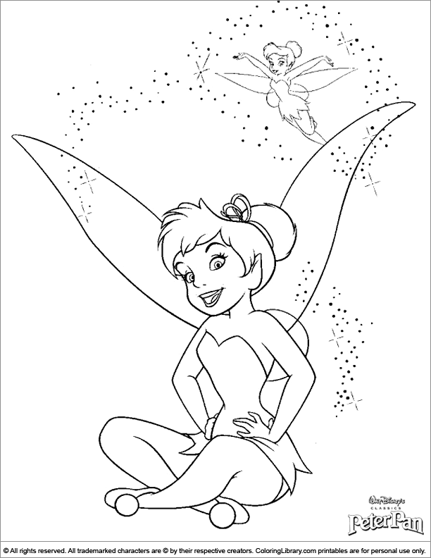 Peter Pan colouring in