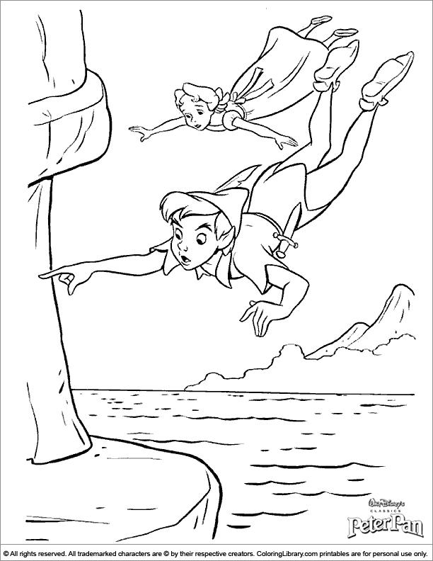 Peter Pan fun coloring page