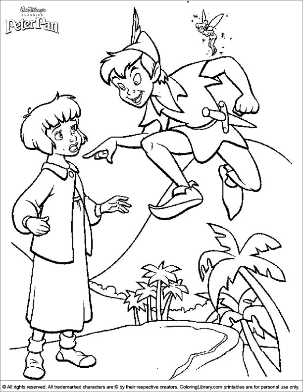 Cool Peter Pan coloring page