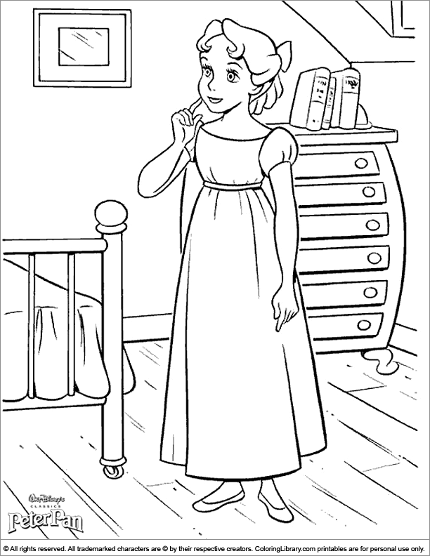 Peter Pan coloring book page - Coloring Library
