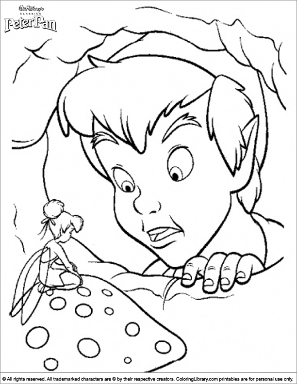 Peter Pan coloring book printable - Coloring Library