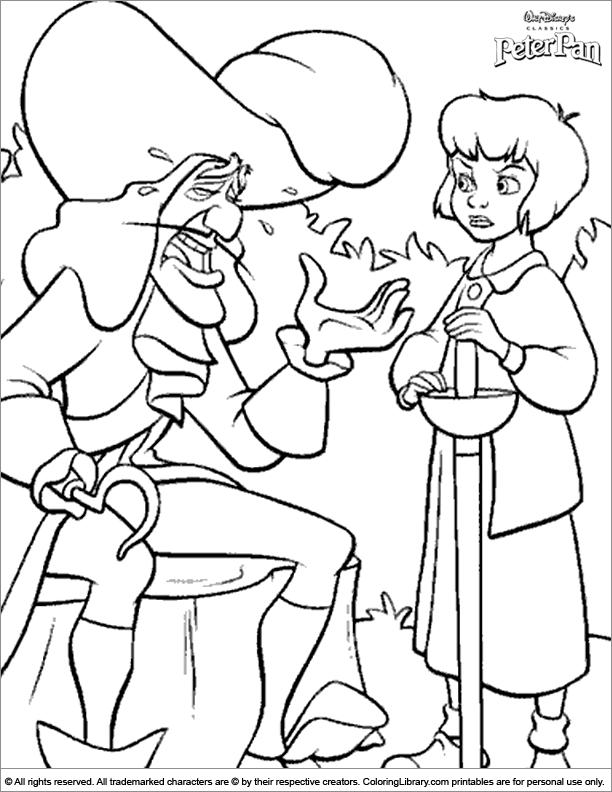 Peter Pan free coloring sheet