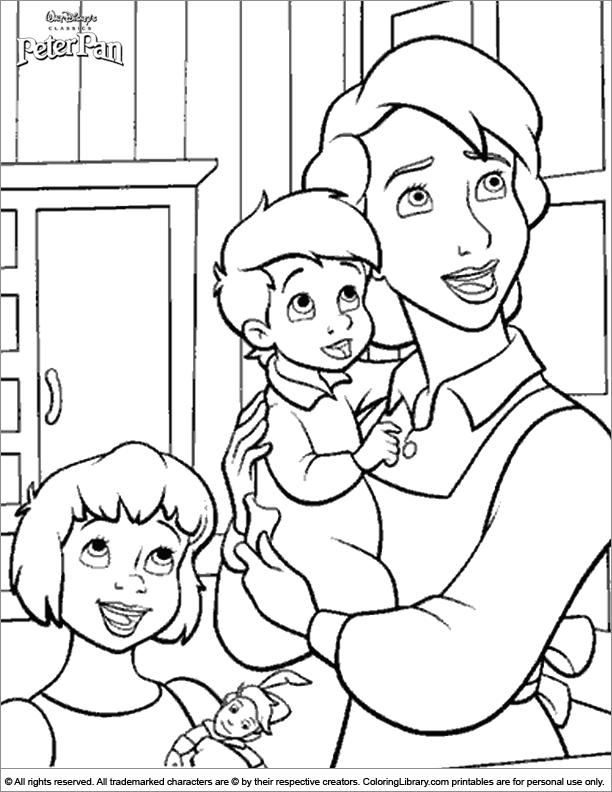 Peter Pan coloring image