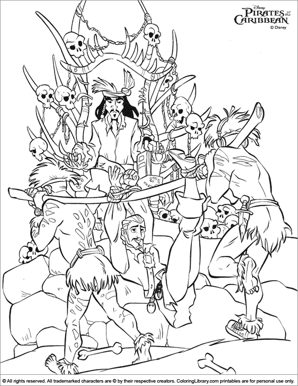 caribbean coloring pages - photo#4