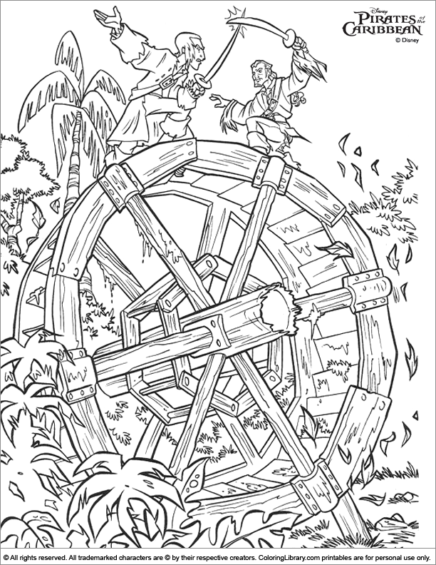 pirates of the caribbean coloring picture - Pirates Of The Caribbean Coloring Pages