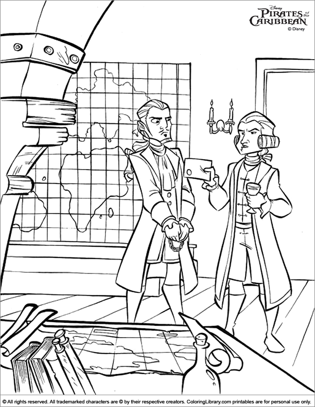 Pirates of the Caribbean printable coloring page