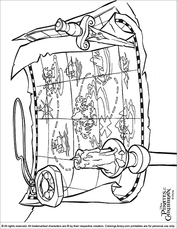 Pirates of the Caribbean free coloring printable