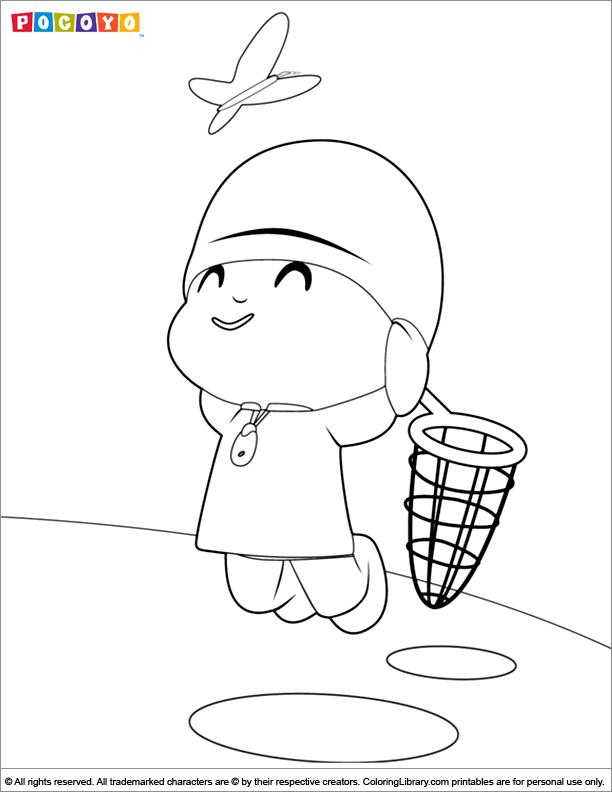 Fun Pocoyo coloring sheet