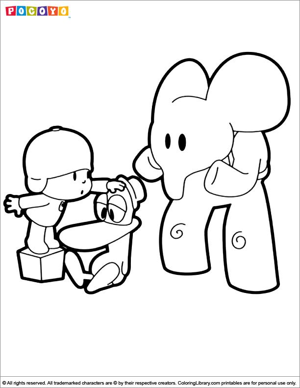 Pocoyo Coloring Pages Pdf : Pocoyo coloring picture