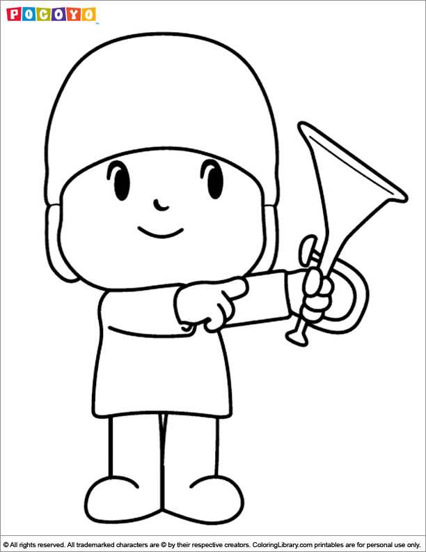 Pocoyo coloring page for children - Coloring Library