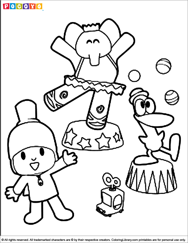 Pocoyo coloring pictures for kids