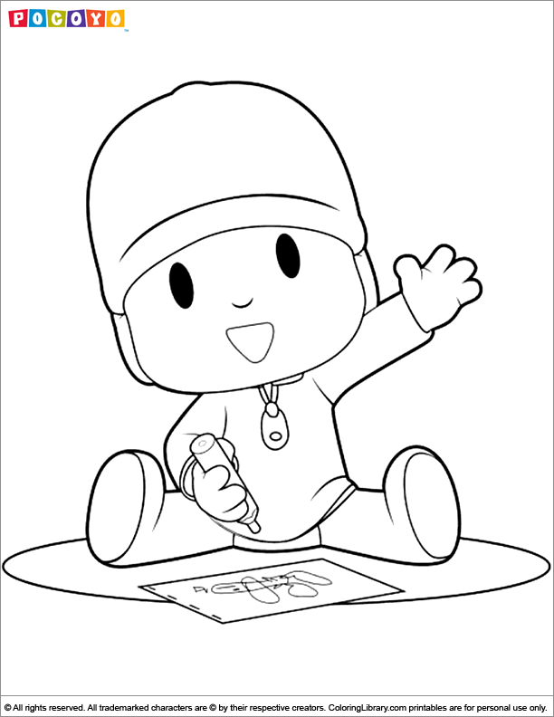 Pocoyo Coloring Picture Coloring Pictures About