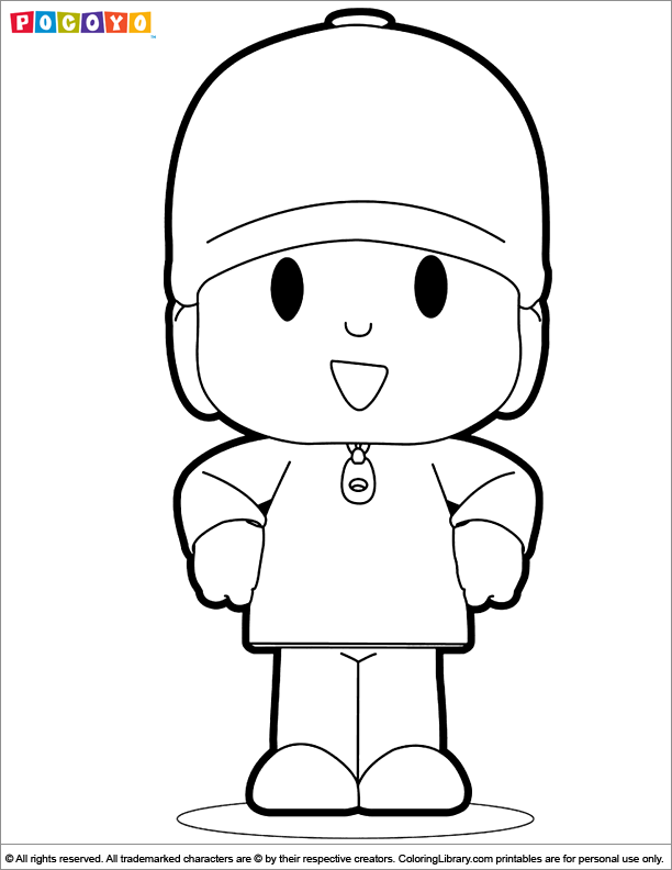 Pocoyo Coloring Picture