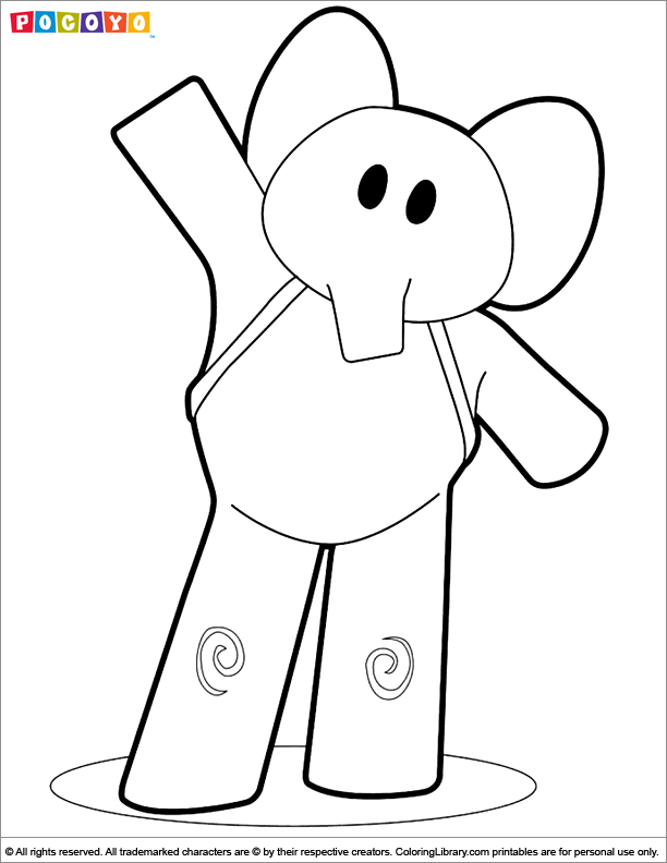 Pocoyo Pato Coloring Pages