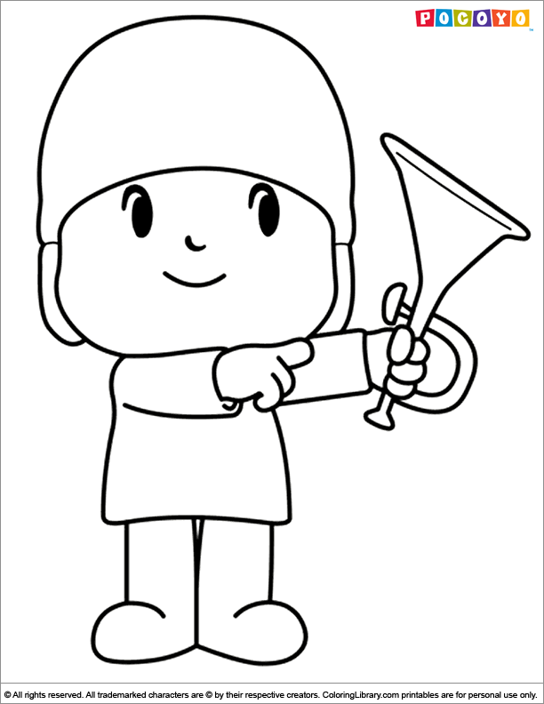 Amazing Pocoyo coloring page - Coloring Library
