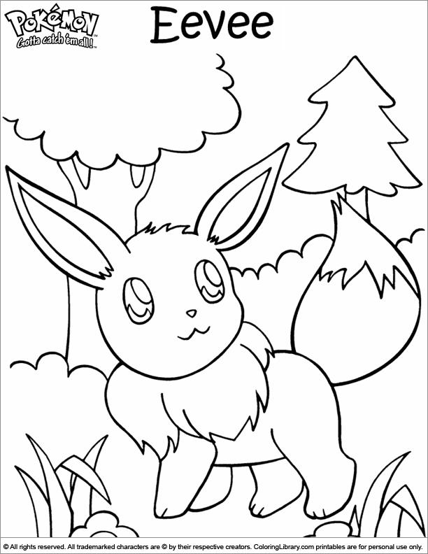 Pokemon coloring printable for kids