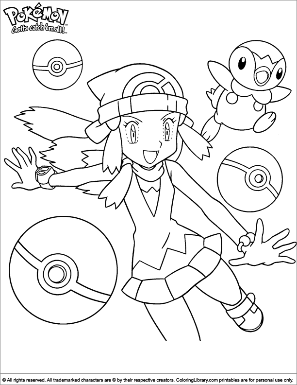 Pokemon coloring page to print