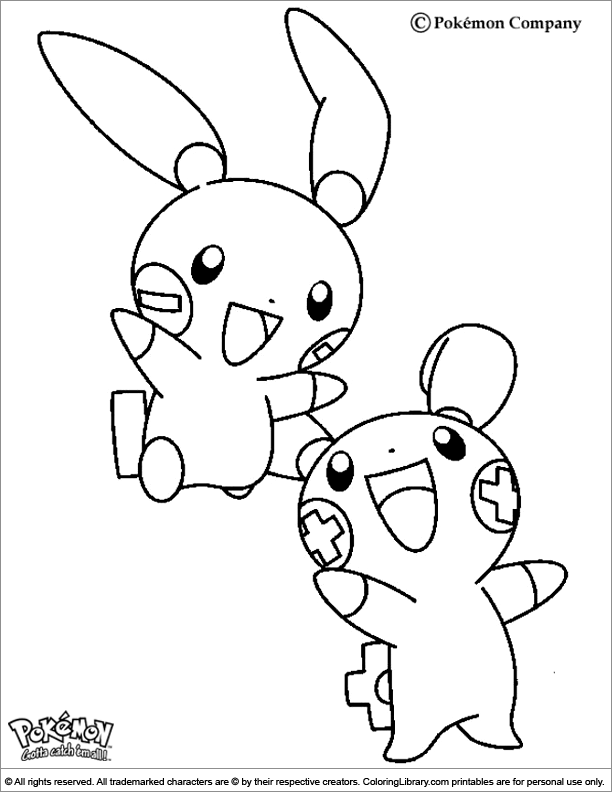 Pokemon free printable coloring page