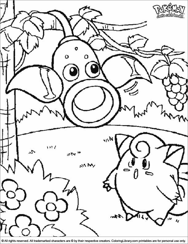 Pokemon free online coloring page