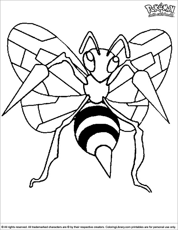 Pokemon free coloring picture