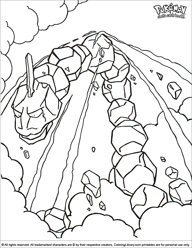 Pokemon coloring book sheet