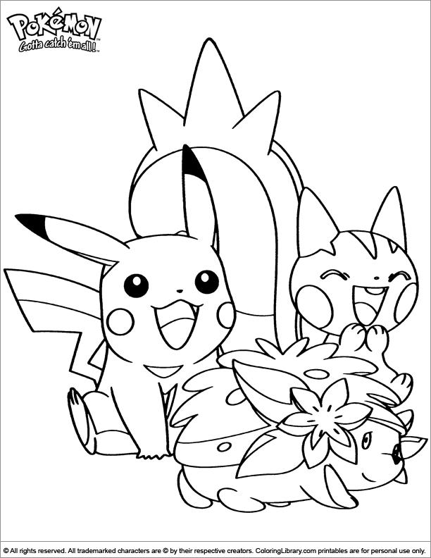 Pokemon colouring page