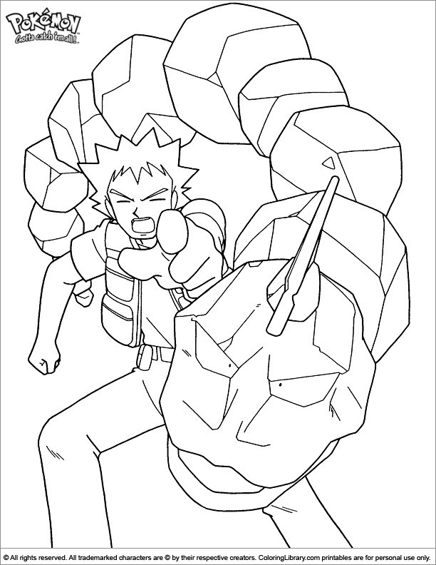 Amazing Pokemon coloring page