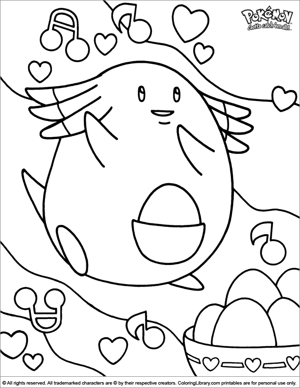 Pokemon coloring sheet