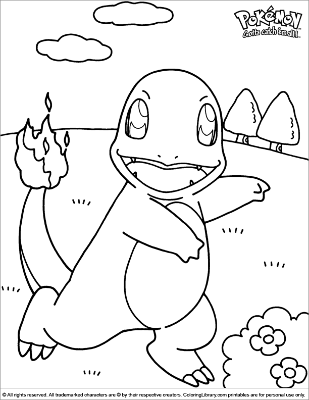 Pokemon coloring page for kids
