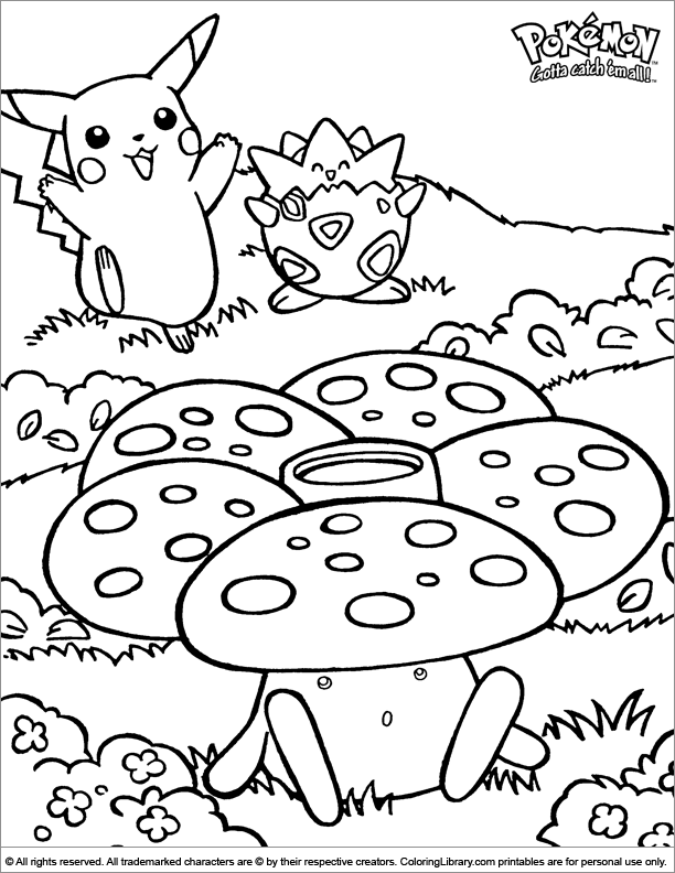 Pokemon colouring page