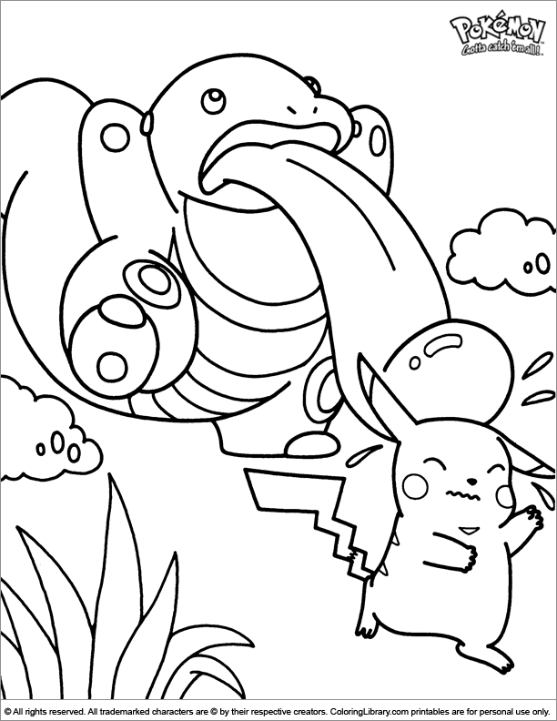 Pokemon coloring printout