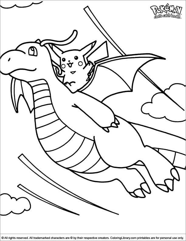 Pokemon fun coloring picture